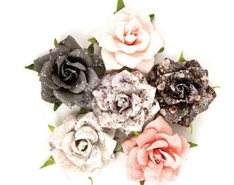 Prima Marketing Rose Quartz Flower Embellishement Persian Marblelite New Release In Stock Ready To Ship