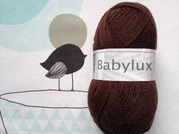 WOOL BABYLUX brown - white horse