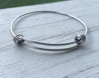 BULK PICK QUANTITY 65 mm Charm Bracelet - Bangle Bracelet - Stainless Steel Bangle Bracelet - Wire Bangles - Expandable - Wholesale