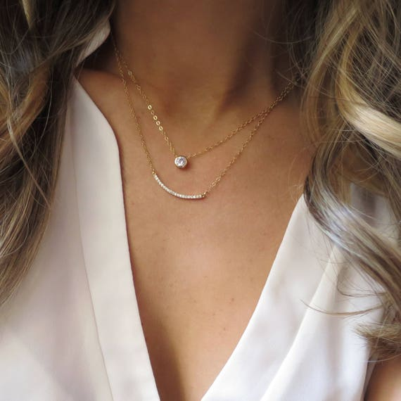 CZ Layer Necklace