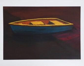 Rowboat by Cynthia Nartonis Monoprint Print