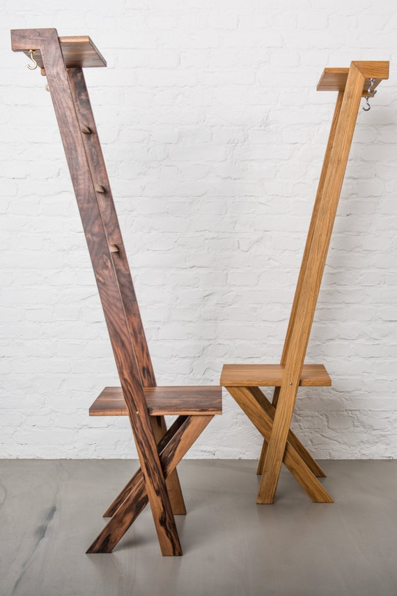 Tb 2 Modern Day Valet Stand Ladder Chair In Oak