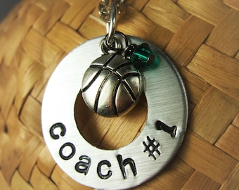 Personalized Coaches Gift, Basketball Jewelry, Basketball Gifts, Basketball Coach Jewelry, Basketball Necklace, Coach Gifts
