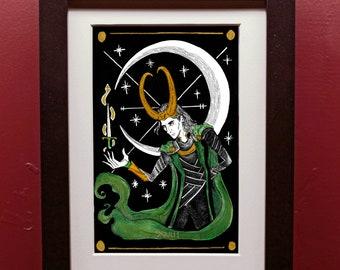 Loki Moon Tarot Archival Art Print