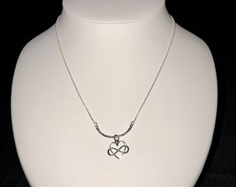 Delicate Sterling Silver Necklace with an Infinity Heart Charm