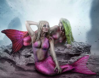 Mermaid #2 12.5x12.5 Print