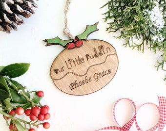 Personalised  Christmas decoration , Babys first Christmas decoration , Christmas tree decoration , Christmas pudding decoration