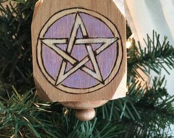 Primitive Wood Pentacle Ornament