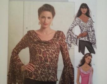 Boho blouse tops for women/ boho top pattern/ balloon sleeve blouse/2007 sewing pattern, Bust 31 32 34 36, Size 8 10 12 14, Butterick B 5138