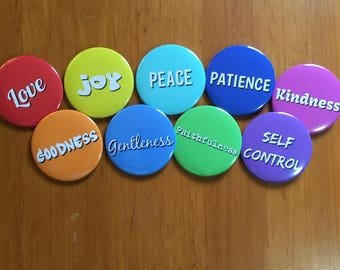 Fruit of the Spirit Buttons