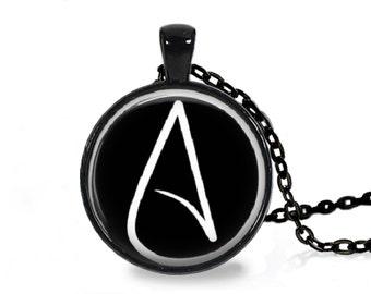 Atheist Logo, Black and White Pendant