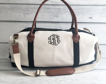 Monogrammed Weekender Bag, Bridesmaid Gift, Bridesmaid Bag, Overnight Bag, Monogram Suitcase, Monogram Travel Bag, Weekender Bag, Monogram