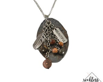 Ageless Beauty Hammered Spoon Necklace