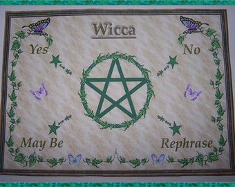 Wicca Scrying Mat, Dowsing wiccan Magic Divination.
