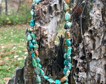 Turquoise Necklace // Turquoise Double Necklace