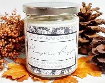7 oz Natural Soy Candle Pumpkin Apple Scented   7 oz Jar Candle   Pumpkin Soy Candle   Fall Scents   Autumn Candle   Pumpkin Apple Scented  