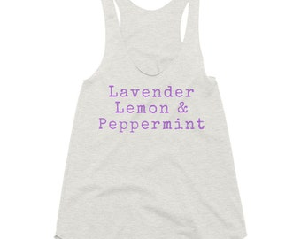 Allergy Trio Racerback Tank - Essential Oil Gift - Womens Racerback Top - Workout Tank Top - Gift for Oily Mom - Crunchy Mama Layering Tank