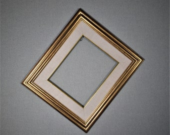 8x10 Frame Gold with Wide Liner Wood with Optional Glass and Matting Complete Kit