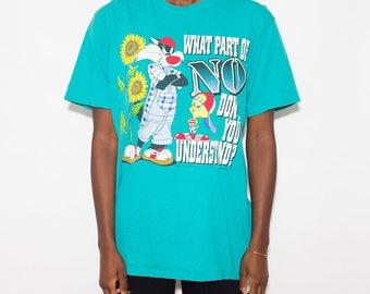 Tweety Bird, Tumblr Shirt, Looney Tunes, Graphic Tee, Gangsta, Streetwear, Vintage Looney Tunes, Warner Bros, Cartoon, Vintage Tshirt