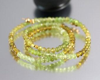 Grossular Garnet Beads - Rondelles - Garnet Beads - Full Strand