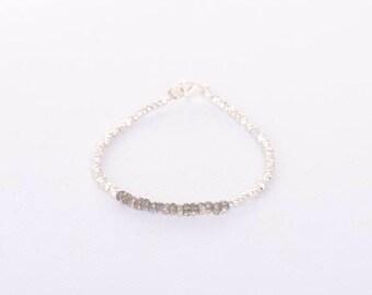 Labradorite stacker bracelet