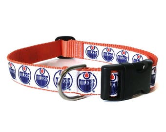 Adjustable Dog Collar - Edmonton Oilers