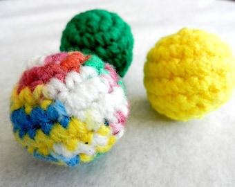 Cat Toy - Catnip Ball - Catnip Rattle Balls - Set of 3