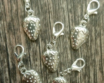 Strawberries Stitch Marker Set