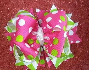 Double stacked boutique bow