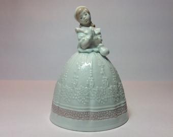 1994 Lladró Daisa Bridal Bell 01006200. Retired. (A/F). Wedding Cake Topper. Wedding Gifts. Lladro Wedding Bell. Wedding Table Display.