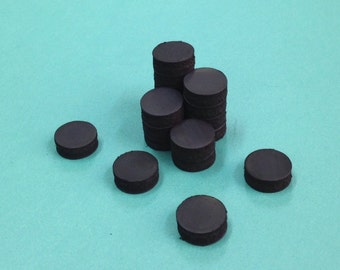 "Quantity 20 Ceramic Magnets - 1/2"" 13 mm- small craft magnet- black magnet"
