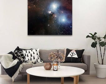 Space art on canvas, Astronomy print of Corona Australis. Extra LARGE ready to hang canvas wall art