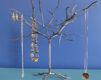 Elm Tree. Handwelded steel tree for jewelry, holiday ornaments, or decoration. Made to order