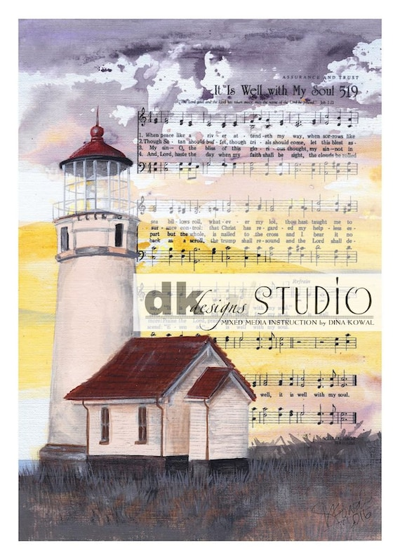 It Is Well -  lighthouse print - hymn - comfort and sympathy