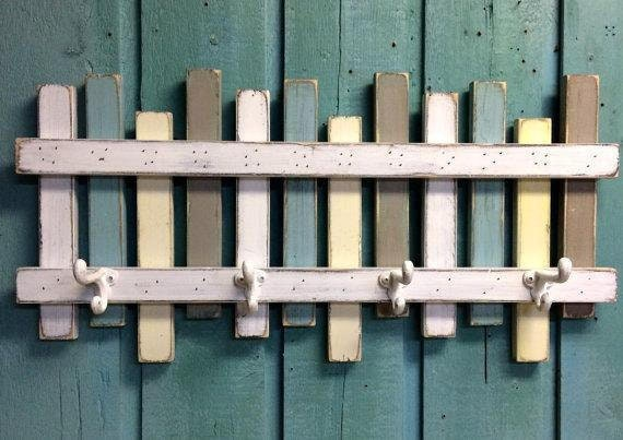Beach Fence Hook Rack | Handmade Decor Ideas For Decorating A Beach House