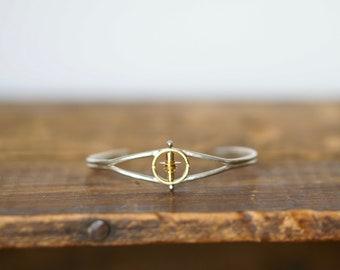 Tiny Spinning Cuff Bracelet