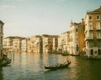 Grand Canal Photography, Venice Italy, Gondola, Wall Print, Venice Photograph, Polaroid Film Photograph, Venice Photography, Italy Photo