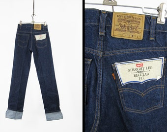 Vintage NOS Levi's 509 Jeans Deadstock Denim 80s Orange Tab - 28 x 36