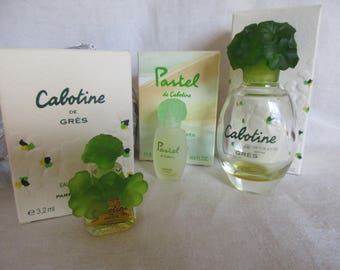 Vintage CABOTINE and PASTEL Perfume by Parfums Gres