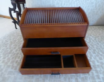 On Sale! Man or Woman's Calendar Jewelry Wooden Box Storage