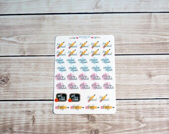 School Stickers, School Days Planner Stickers, Back To School Stickers All Planner Types, School Planner, School Supplies