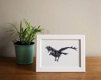 Framed Raven Print