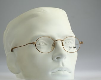 Jean Paul Gaultier 55-6105, Vintage oval eyeglasses, 90s mens & women optical frame, rare and unique / NOS