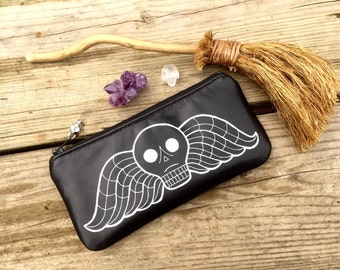 Deaths Head Pouch, Winged Deaths Head Pouch, Taphophile Pouch, Salem Pouch, Cemetery