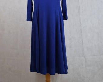 Vintage long blue dress, vintage clothing, vintage, clothing, dress, dresses, vintage dresses, women's clothing, women's dresses, cute