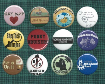 Portlandia-inspired 1-inch button pack