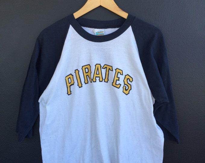 Pittsburgh Pirates MLB 1990s vintage Raglan shirt.