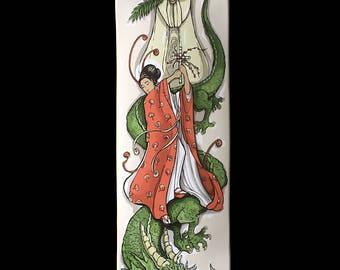 St.Margaret and the Dragon Skateboard Deck Art
