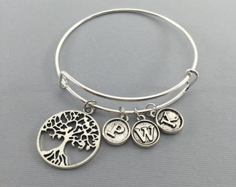 Tree Of Life -- Gift for Grandmother- Family Tree - Tree of Life Bracelet - Nana Gift - Grandma Gift - Personalized Jewelry - Charm Bracelet