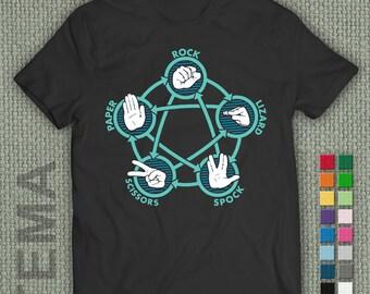 Rock Paper Scissors Lizard Spock  - Tshirt - Men and Women Shirt
